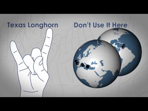 Cultures - View the infographic at Pimsleur Approach: http://bit.ly/uNZOw8 - Many American hand gestures are innocent in the US, but those same hand gestures in differe...