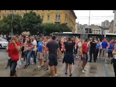 Atmosfera na riječkoj Rivi uoči utakmice s Engleskom