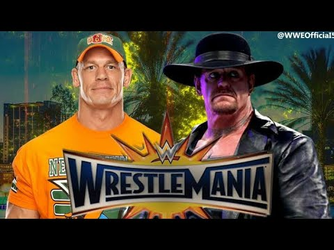 Wwe wrestlemania 34 || 8 April 2018 || the undertaker vs John Cena full match