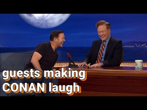 Guests making Conan laugh   COMPILATION