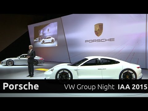 Porsche 911 Carrera S & Mission E - Präsentation auf der Volkswagen Group Night IAA 2015