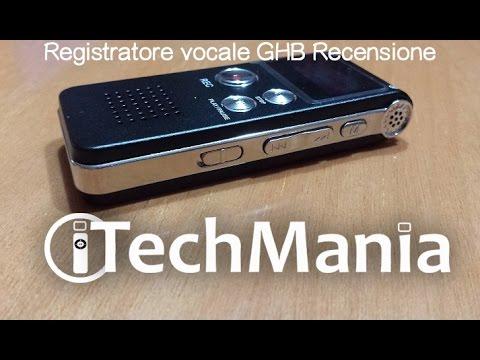 Registratore Vocale GHB Recensione   iTechmania
