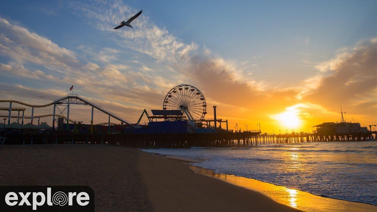 カルフォルニアの人気ビーチ【サンタモニカ・ビーチ】Santa Monica Beach Cam