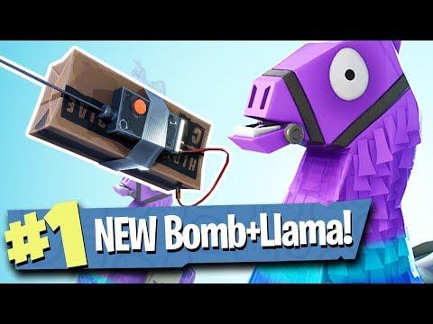 *NEW* REMOTE BOMB + LLAMA LOOT - Fortnite: Battle Royale