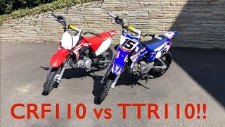 7. 2019 CRF110 VS  2019 TTR110 Rewiew Nick Gennusa