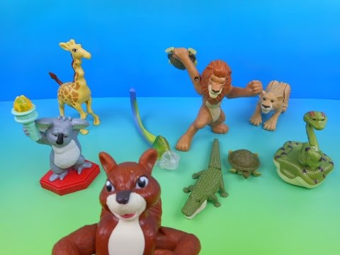 2006 WALT DISNEY'S THE WILD SET OF 8 McDONALD'S HAPPY MEAL KID'S MOVIE TOY'S VIDEO REVIEW