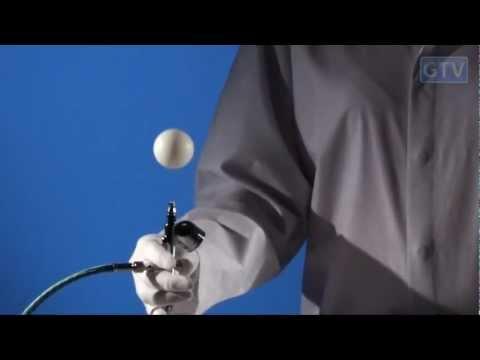 Шарик в струе воздуха - физические опыты