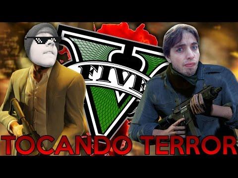 TACANDO O TERROR NO GTA V видео