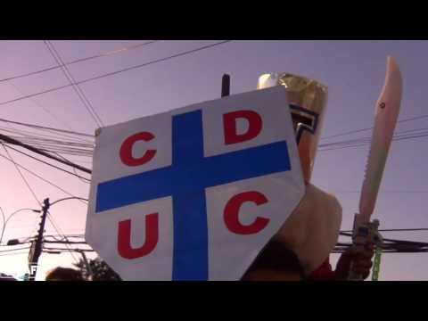 Los Cruzados - Banderazo en Temuco  07/12/2016 - Los Cruzados - Universidad Católica