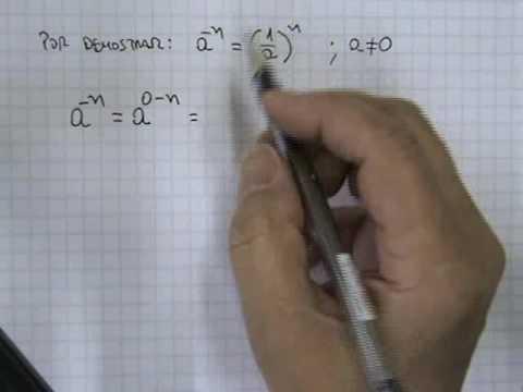 Vídeos Educativos.,Vídeos:Demostrar potencias negativas