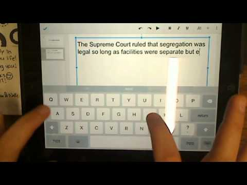 Civil Rights Timeline – iPad Instructions
