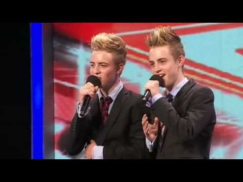 john and edward - The X Factor: Twins John and Edward from Ireland bound onto the stage with incredible confidence - but have they got the voices? See more at http://www.itv.c...