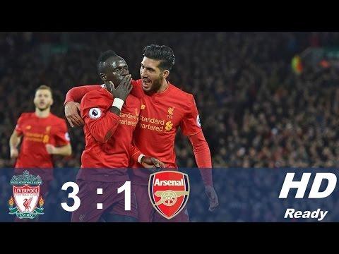 Liverpool vs Arsenal 3 1   All Goals & Highlights   Premier League 04 03 2017 HD
