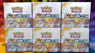 OPENING 6 POKEMON SUN & MOON BOOSTER BOXES OF POKEMON CARDS!!! | A WHOLE BOOSTER CASE!!! by The Pokémon Evolutionaries