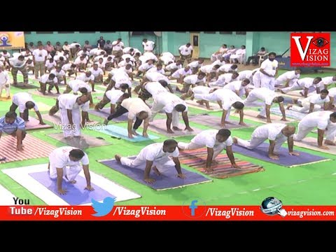 International Yoga Day Celebrations in Port Stadium,in Visakhapatnam,Vizag Vision...