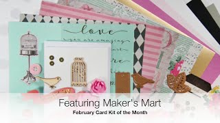 Spellbinders Bird & Floral Card Kit: http://shrsl.com/?ihc9  For June's DT Package I decided on this beautiful Maker's Mart Card Kit of the Month. It's February's. Yes. You CAN order kits from month's past! I just LOVE my kit! I'll be killing it!!!! Project videos will be uploading in just a few short days.