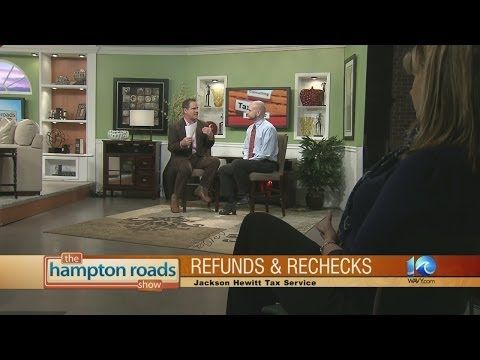 Refund recheck with Jackson Hewitt Tax Service.