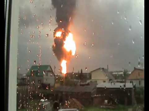 Russia - Oil Tank Explosion Shockwave