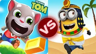 Talking Tom Gold Run HANK VS Despicable Me: Minion Rush Cleopatra