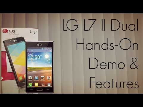 LG L7 II Dual Hands-On Demo - First Boot up Apps, Camera Demo & Features