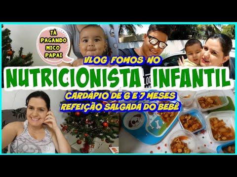 FOMOS AO NUTRICIONISTA INFANTIL + CARDÁPIO(6 E 7 MESES)- Família Chicletinho - Ep.296