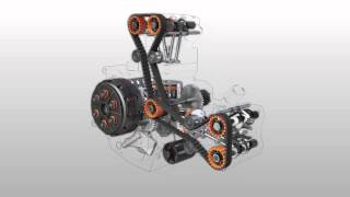 7. Ducati Desmoquattro engine exploded view