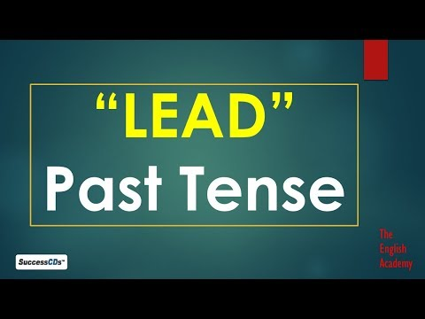 Past Tense of LEAD -  and other Forms of Verb