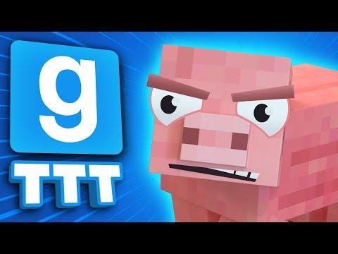 Garrys Mod - REVENGE OF THE MINECRAFT PIG  Gmod TTT