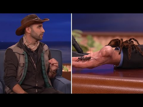 Animal Expert Coyote Peterson Introduces Conan And Jeff Goldblum To Some