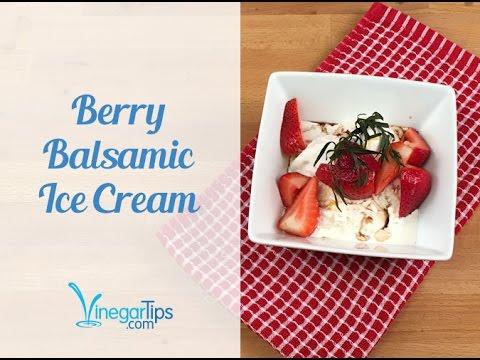 Berry Balsamic Ice Cream