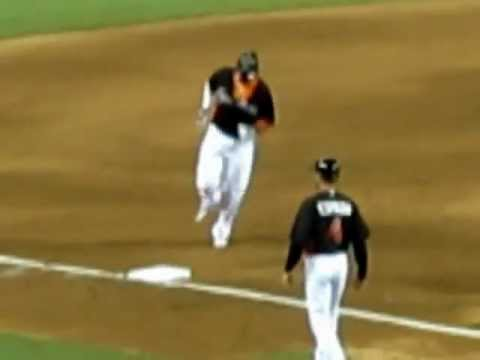 apdre305 - Hanley Ramirez hits 1st homer for Marlins in new ballpark.