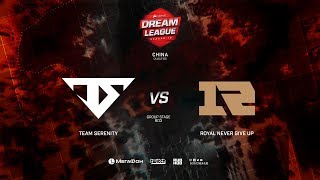 Royal Never Give Up vs Team Serenity, DreamLeague Minor Qualifiers CN, bo3, game 2 [Eiritel and Jam]