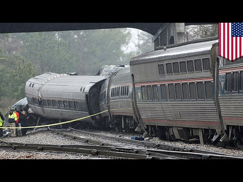 Amtrak crash: Amtrak collides with parked freight train due to wrongly positioned switch - TomoNews