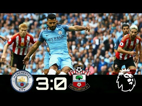 Manchester City vs Southampton: 3-0:All Goals And Highlights HD(15/4/2017)