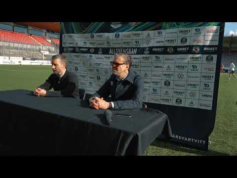 Presskonferens efter ÖSK - IFK Norrköping