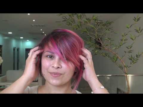 Corte de Cabelo Feminino - Cabelo Rosa