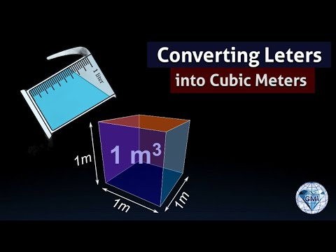 Convert Liters to cubic meters 1 L is 1000 cm cube measurements