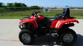 7. $7,999 2013 Arctic Cat TRV500 Red Two Rider ATV with Fuel Injection