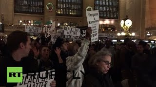 LIVE: New Yorkers rally against police brutality on New Year's Eve