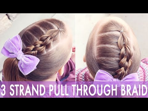 Braid hairstyles - 3 Strand Pull Through Braid Accent  Brown Haired Bliss