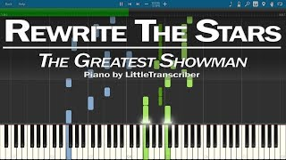 Video The Greatest Showman - Rewrite The Stars (Piano Cover) by LittleTranscriber MP3, 3GP, MP4, WEBM, AVI, FLV April 2018
