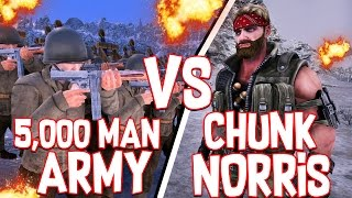5,000 MAN ARMY VS CHUNK NORRIS!! - Ultimate Epic Battle Simulator #3