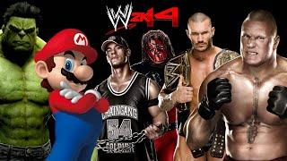 WWE 2K14: HULK VS Mario VS Brock Lesnar VS Randy Orton VS Kane VS John Cena [FR//HD] full download video download mp3 download music download
