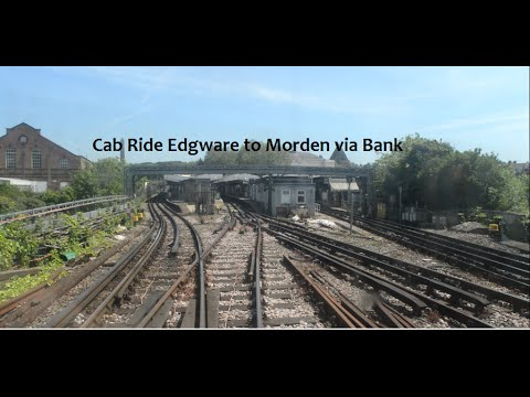 Cab Ride Edgware to Morden via Bank (видео)