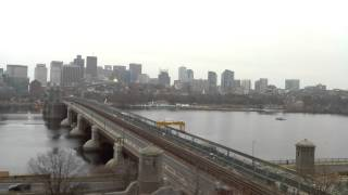 Daytime Time-Lapse Over Longfellow Bridge - Dec 16, 2014
