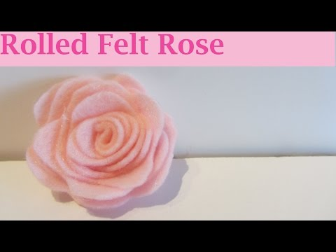 come realizzare una splendida rosa in feltro