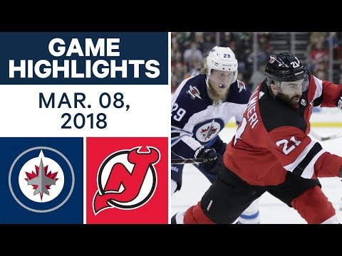 Video: NHL Game Highlights | Jets vs. Devils - Mar. 08, 2018