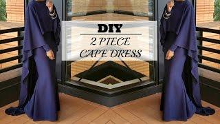 Video Nadira037 | DIY | How to Make a Cape Maxi Dress MP3, 3GP, MP4, WEBM, AVI, FLV Oktober 2017