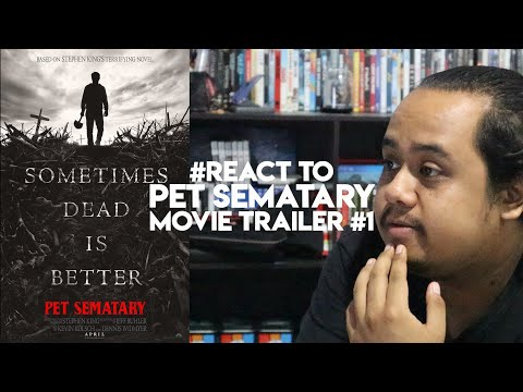 #ZHAFVLOG - DAY 285/365 - #React to Pet Sematary Movie Trailer #1 | Stephen King