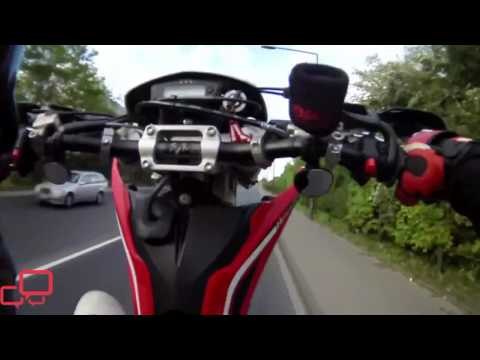 ¡Accidente de una moto Husqvarna 450 SMR que era inevitable!